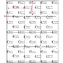 A.035.030.3(45)017-22 - Etiqueta em Filme Poliester Cromo Fosco Adesivo - 22 rolos