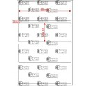 A.068.024.1(35)005-14 - Etiqueta em Papel Couche Duplo Uso Adesivo - 14 rolos
