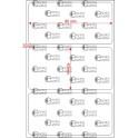 A.080.040.1(45)017-22 - Etiqueta em Filme Poliester Cromo Fosco Adesivo - 22 rolos