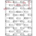 A.025.025.2(45)015-11 - Etiqueta em Filme Bopp Branco Fosco Adesivo   - 11 rolos