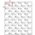 A.016.016.5(45)015-33 - Etiqueta em Filme Bopp Branco Fosco Adesivo    - 33 rolos
