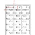 A.027.015.3(45)015-11 - Etiqueta em Filme Bopp Branco Fosco Adesivo    - 11 rolos