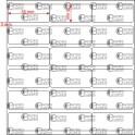 A.035.015.3(45)015-11 - Etiqueta em Filme Bopp Branco Fosco Adesivo   - 11 rolos