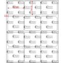 A.035.030.3(45)064-22 - Etiqueta em Papel Couche Adesivo Removível  - 22 rolos