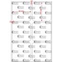 A.040.040.2(45)015-11 - Etiqueta em Filme Bopp Branco Fosco Adesivo    - 11 rolos