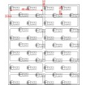 A.046.013.2(45)015-11 - Etiqueta em Filme Bopp Branco Fosco Adesivo   - 11 rolos
