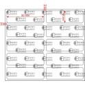 A.050.016.2(45)015-22 Etiqueta em Filme Bopp Branco Fosco Adesivo   - 22 rolos