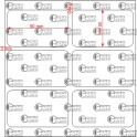 A.050.030.2(45)008-22 - Etiqueta em Papel Couche Adesivo  - 22 rolos