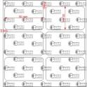 A.050.030.2(45)015-22 - Etiqueta em Filme Bopp Branco Fosco Adesivo   - 22 rolos