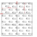 A.050.035.2(45)008-22 - Etiqueta em Papel Couche Adesivo  - 22 rolos