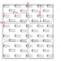 A.050.035.2(45)015-22 - Etiqueta em Filme Bopp Branco Fosco Adesivo   - 22 rolos