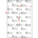 A.063.030.1(45)003-22 - Etiqueta em Papel Termico Com Barreira Adesivo  - 22 rolos