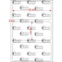 A.063.030.1(45)015-22 - Etiqueta em Filme Bopp Branco Fosco Adesivo   - 22 rolos