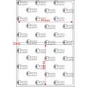 A.071.053.1(45)015-33 - Etiqueta em Filme Bopp Branco Fosco Adesivo   - 33 rolos