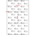 A.080.040.1(45)015-11 - Etiqueta em Filme Bopp Branco Fosco Adesivo   - 11 rolos