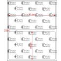 A.081.049.1(45)015-11 - Etiqueta em Filme Bopp Branco Fosco Adesivo   - 11 rolos