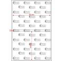 A.085.065.1(45)015-11 - Etiqueta em Filme Bopp Branco Fosco Adesivo   - 11 rolos