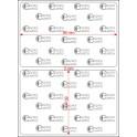 A.090.060.1(45)015-11 - Etiqueta em Filme Bopp Branco Fosco Adesivo   - 11 rolos
