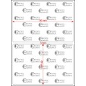 A.090.060.1(45)015-22 - Etiqueta em Filme Bopp Branco Fosco Adesivo   - 22 rolos