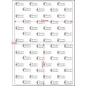 A.100.070.1(45)004-11 - Etiqueta em Papel Termo Transfer Adesivo Removivel - 11 rolos