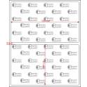 A.103.061.1(45)015-33 - Etiqueta em Filme Bopp Branco Fosco Adesivo   - 33 rolos