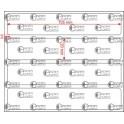 A.105.020.1(45)004-11 - Etiqueta em Papel Termo Transfer Adesivo Removivel - 11 rolos