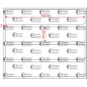 A.105.020.1(45)008-11 - Etiqueta em Papel Couche Adesivo  - 11 rolos